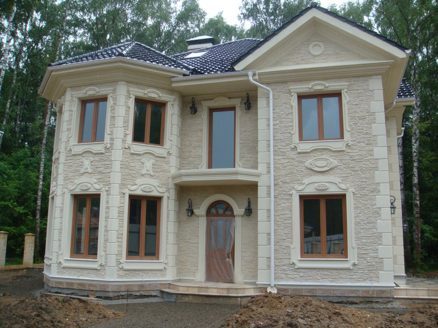 После как сделали фасад дома